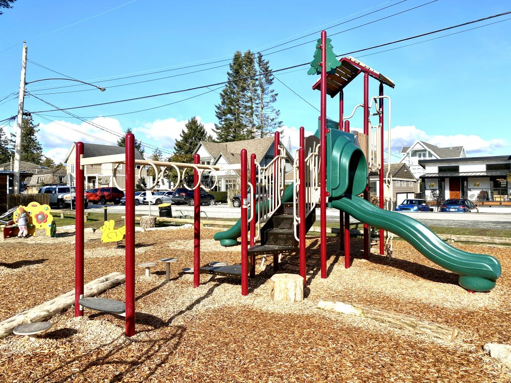 Alexandra Neighbourhood House Park is one of the best playgrounds for toddlers in South Surrey, BC.
