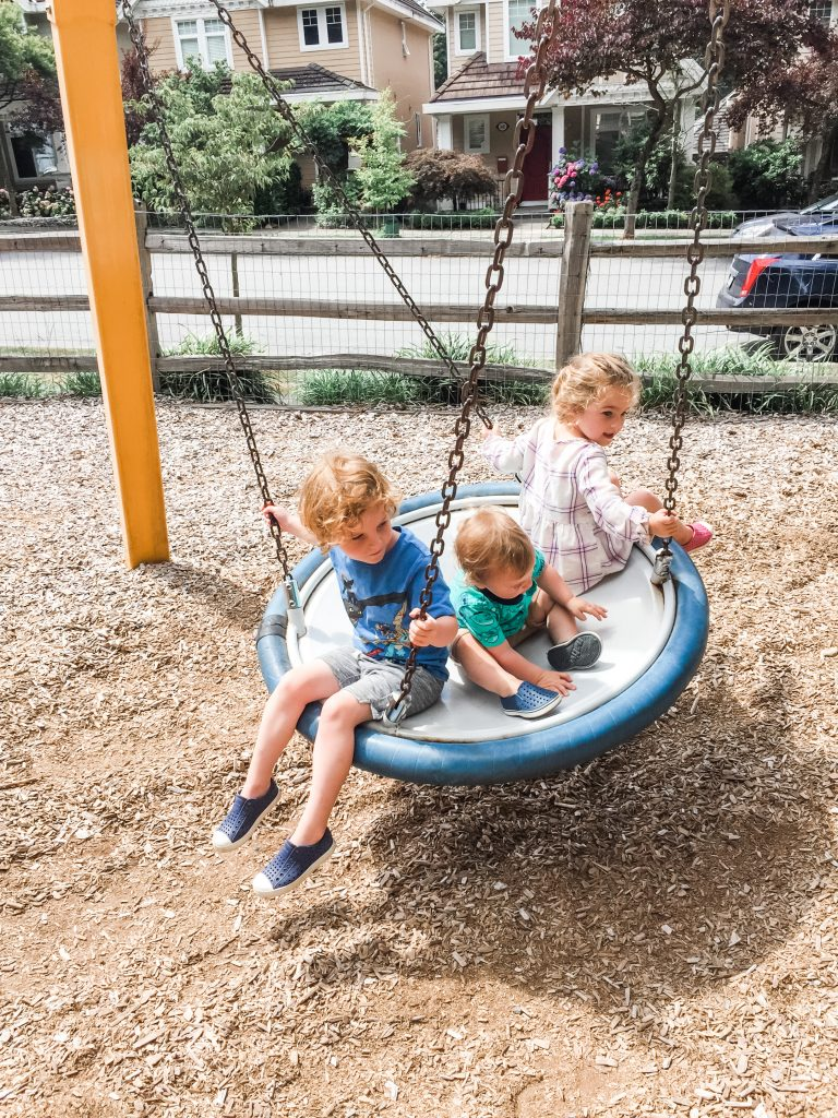 Winter Crescent Park is one of the best playgrounds for toddlers in South Surrey, BC.