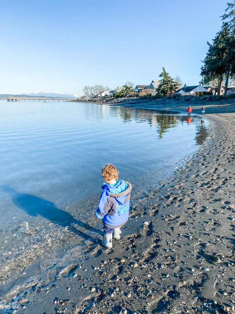 Crescent Beach is one of the best stroller friendly walks in South Surrey, BC.