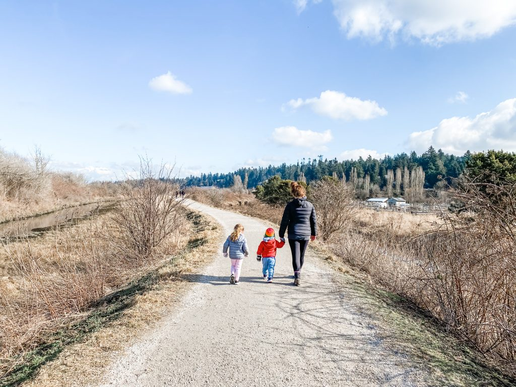 Blackie Spit is one of the best stroller friendly walks in South Surrey, BC.
