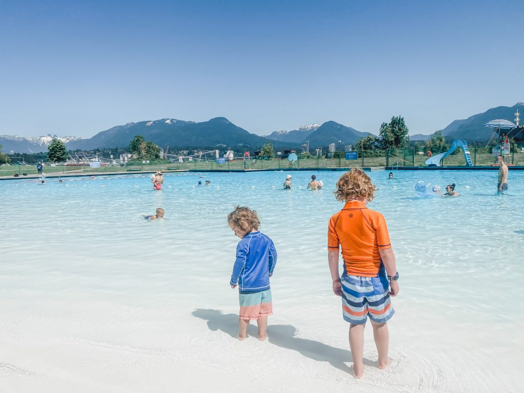 New Brighton Pool is an amazing outdoor pool for kids in Vancouver, BC.